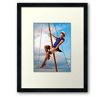 Sailor Pinup Girl Framed Print