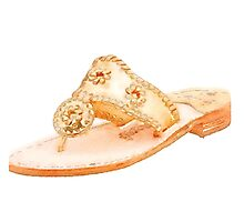 Watercolor Gold Jack Rogers by racheladditon
