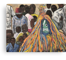 Burkina Faso Mask Dance Canvas Print