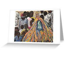 Burkina Faso Mask Dance Greeting Card