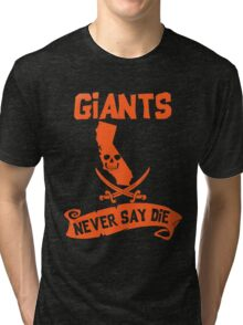 San Francisco Giants Never Say Die Tri-blend T-Shirt