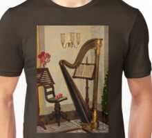 Golden Victorian Harp ~ Heavenly Unisex T-Shirt