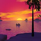 Palm Islands Sunset by Jaclyn Hughes