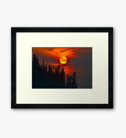 Cariboo Wildfire Sun Framed Print