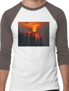 Cariboo Wildfire Sun Men's Baseball ¾ T-Shirt