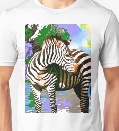 Zebra:  Earth A Home For All Unisex T-Shirt