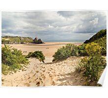 Three Cliffs Bay Poster