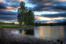 Sunset over Loch Rannoch by Paul  Gibb