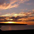 Sunset over Whitby by Gordon Hewstone