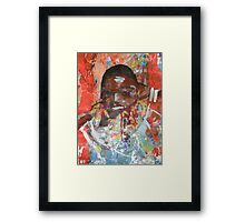 Girl on a Red Road Framed Print