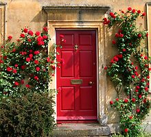 Red Door in the Cotswolds, Gloucestershire, England by UGArdener