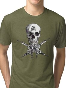 Swede and Crossbones Ink Tri-blend T-Shirt