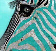 Zebra Abstract BLUE AQUA Sticker