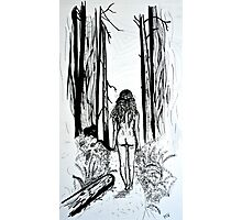 Girl In The Woods Photographic Print