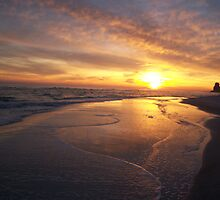 Orange Beach Sunset 1 by bugboobunz