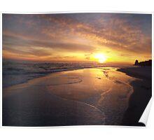 Orange Beach Sunset 1 Poster