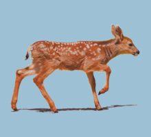 Mule Deer Fawn Walking Kids Tee