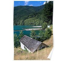 Glines Canyon Dam Pumphouse and Lake Mills Poster