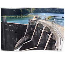 Glines Canyon Dam and Lake Mills Poster