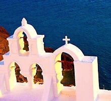 Bells of Oia, Santorini by slexii