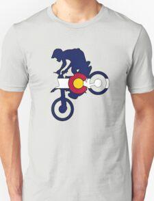 Colorado flag motocross dirt bike rider T-Shirt