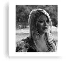 HOLLY WILLOUGHBY Canvas Print