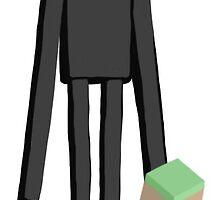 Minecraft Enderman Sticker by tinybunny