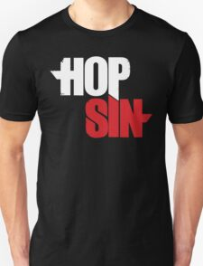 HOPSIN (LOGO) (WHITE & RED) T-Shirt