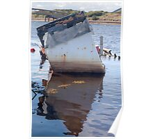 Reflection of sunken boat Poster