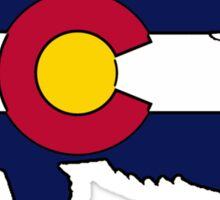 Colorado flag bass fish Sticker