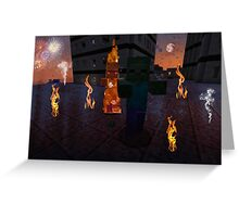 IS THAT A VILLAGER ON FIRE? Greeting Card
