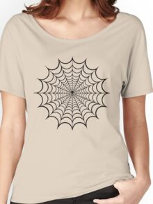 Spider Web Black Women's Relaxed Fit T-Shirt