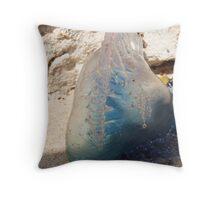 Sitting Pretty on the Beach Throw Pillow