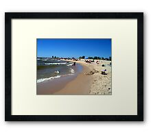 What to do on a hot/humid afternoon.... Framed Print
