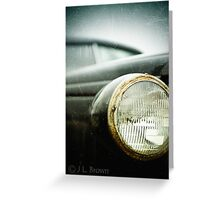 """OLD SCHOOL""  a vintage vehicle from the past. Greeting Card"