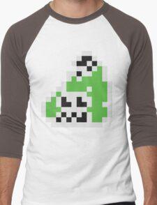 Splatoon Inspired: Black 8-Bit FishFry Men's Baseball ¾ T-Shirt