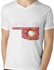 Home Sweet Home Oklahoma Donut Mens V-Neck T-Shirt