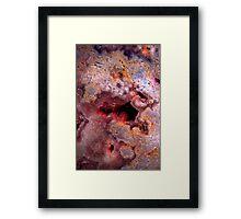 Red Geo Framed Print