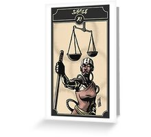 Justice - Sinking Wasteland Tarot Greeting Card