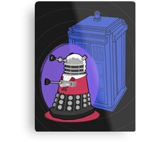 Daleks in Disguise - Third Doctor Metal Print