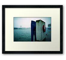 Kiel harbor Framed Print