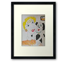 It just you and me.....kid Framed Print