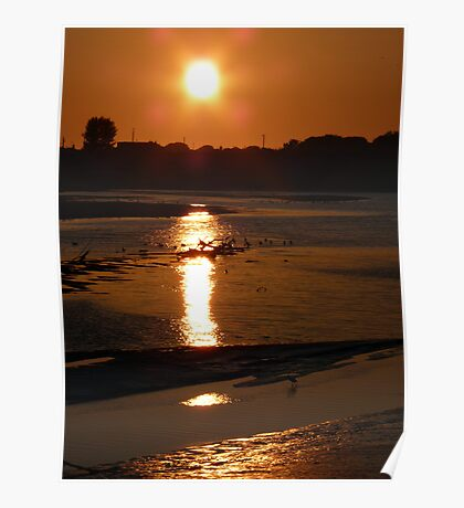 Sunset, River Clwyd Poster