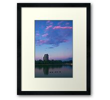 Moon Over City Park Framed Print