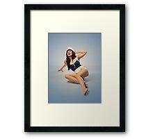 Naval Sailor Pinup Girl  Framed Print