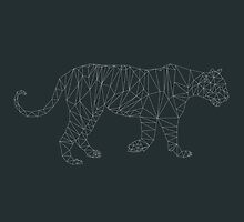 Low Poly Tiger (Lines) by Michael Blais