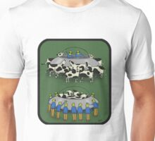 Cows and aliens Unisex T-Shirt