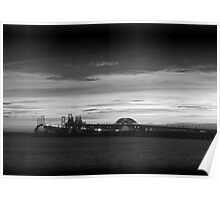 Chesapeake Bay Bridge - BW Poster
