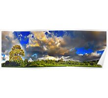 Sky Clouds and The Earth Poster