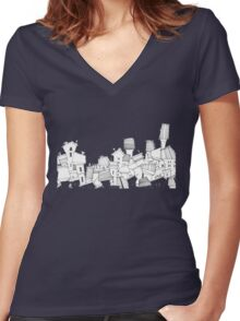 favourite city Women's Fitted V-Neck T-Shirt